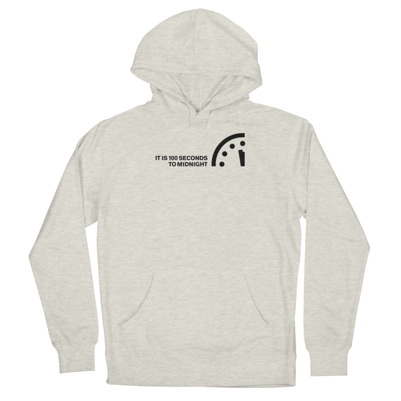 100 Tagline Clock Black Men's Pullover Hoody by Bulletin of the Atomic Scientists' Artist Shop
