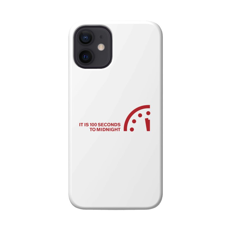 100 Tagline Clock Red Accessories Phone Case by Bulletin of the Atomic Scientists' Artist Shop
