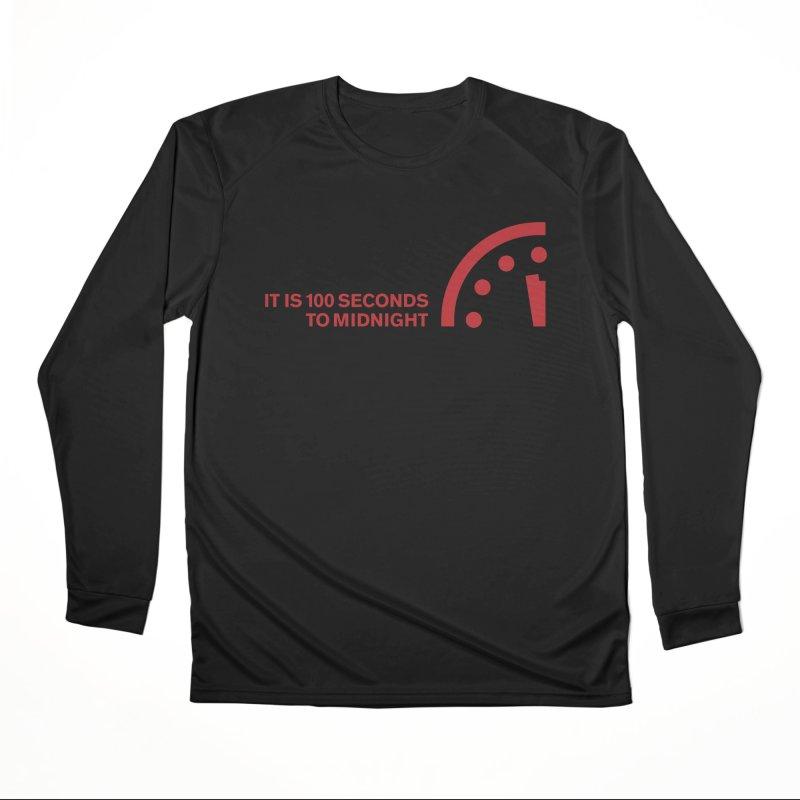 100 Tagline Clock Red Men's Longsleeve T-Shirt by Bulletin of the Atomic Scientists' Artist Shop