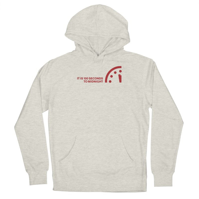 100 Tagline Clock Red Women's Pullover Hoody by Bulletin of the Atomic Scientists' Artist Shop