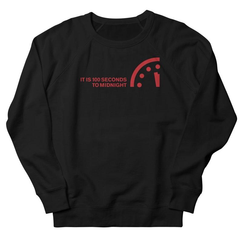 100 Tagline Clock Red Women's Sweatshirt by Bulletin of the Atomic Scientists' Artist Shop