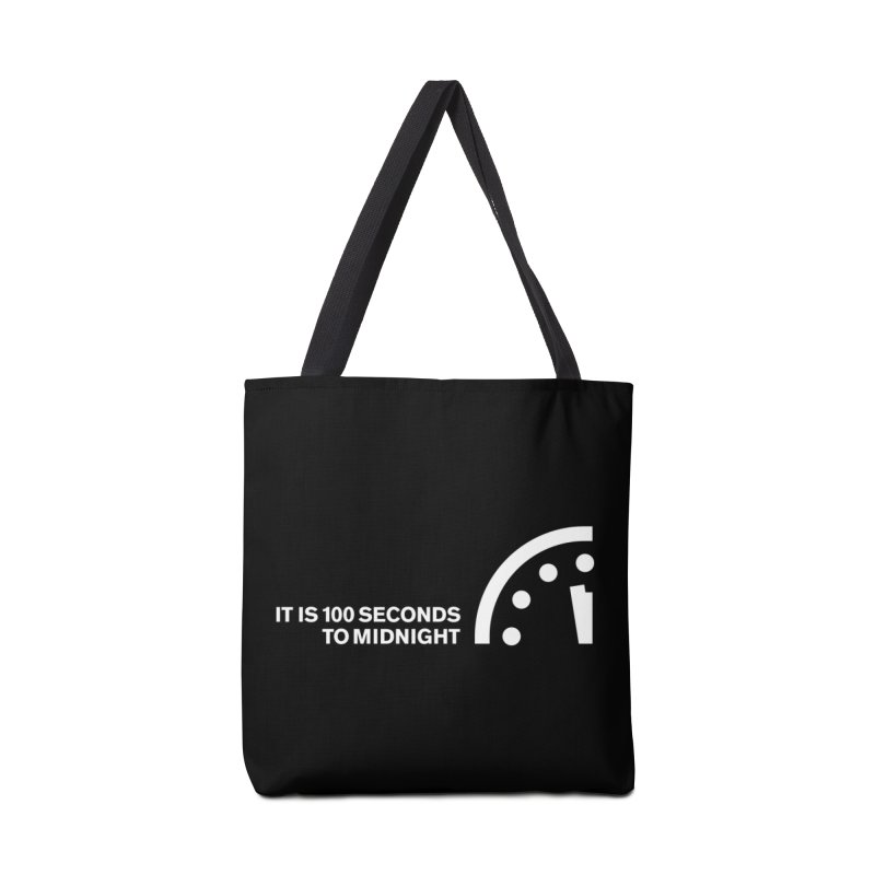 100 Tagline Clock White Accessories Bag by Bulletin of the Atomic Scientists' Artist Shop