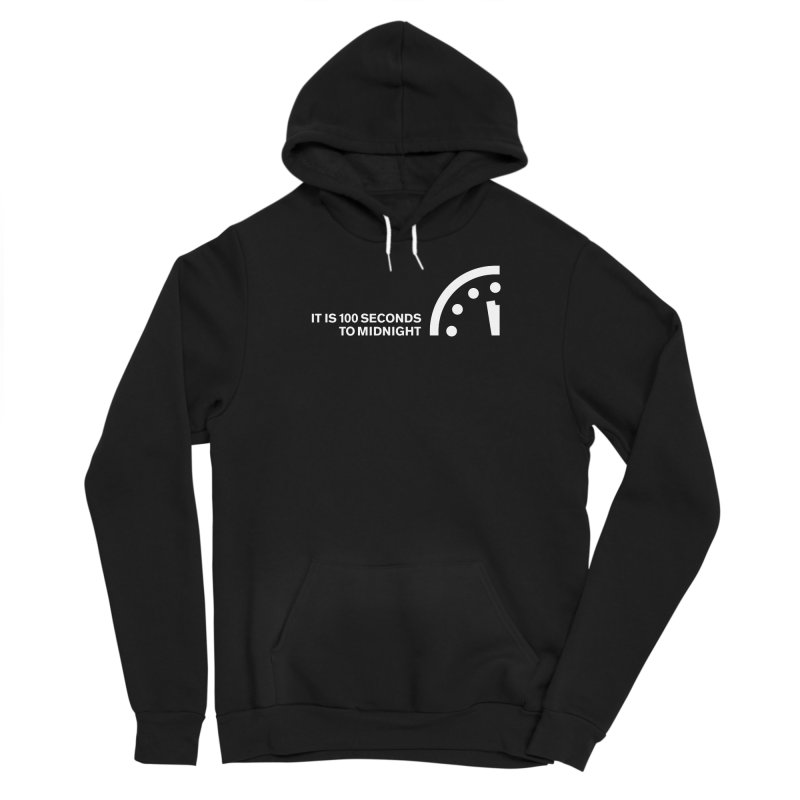 100 Tagline Clock White Women's Pullover Hoody by Bulletin of the Atomic Scientists' Artist Shop