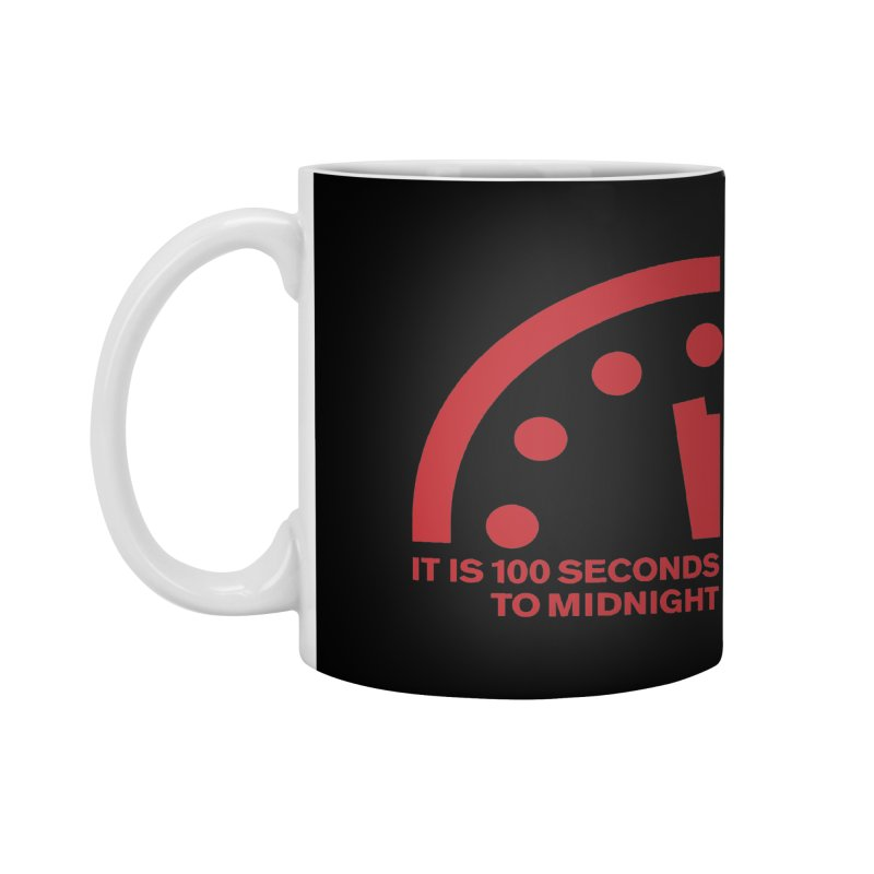 100 Tagline Clock Red Accessories Mug by Bulletin of the Atomic Scientists' Artist Shop