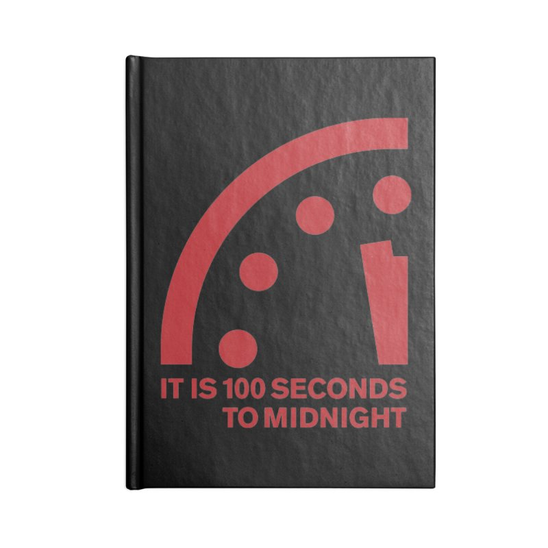 100 Tagline Clock Red Accessories Notebook by Bulletin of the Atomic Scientists' Artist Shop