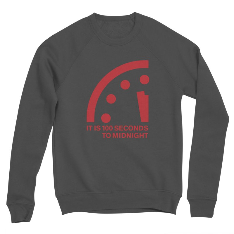 100 Tagline Clock Red Men's Sweatshirt by Bulletin of the Atomic Scientists' Artist Shop