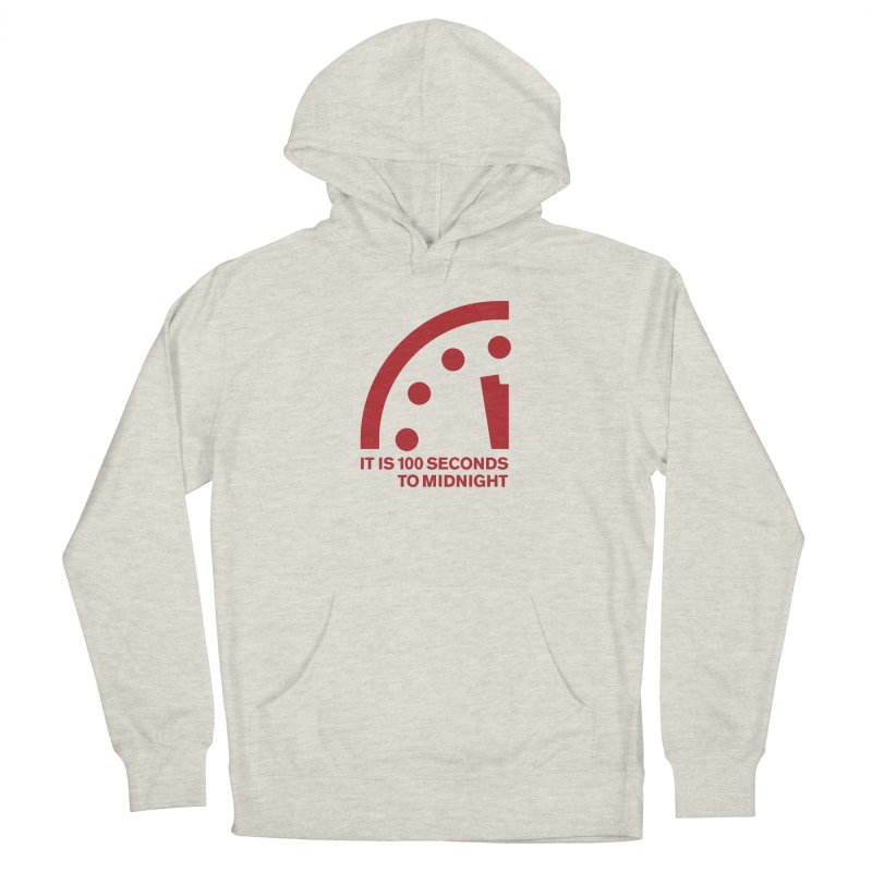 100 Tagline Clock Red Men's Pullover Hoody by Bulletin of the Atomic Scientists' Artist Shop