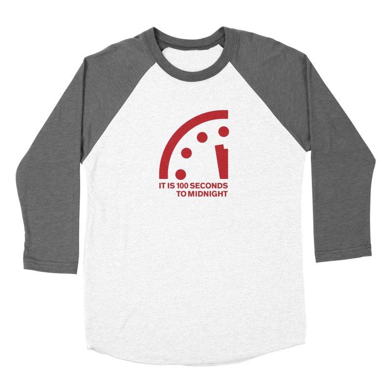 100 Tagline Clock Red Women's Longsleeve T-Shirt by Bulletin of the Atomic Scientists' Artist Shop