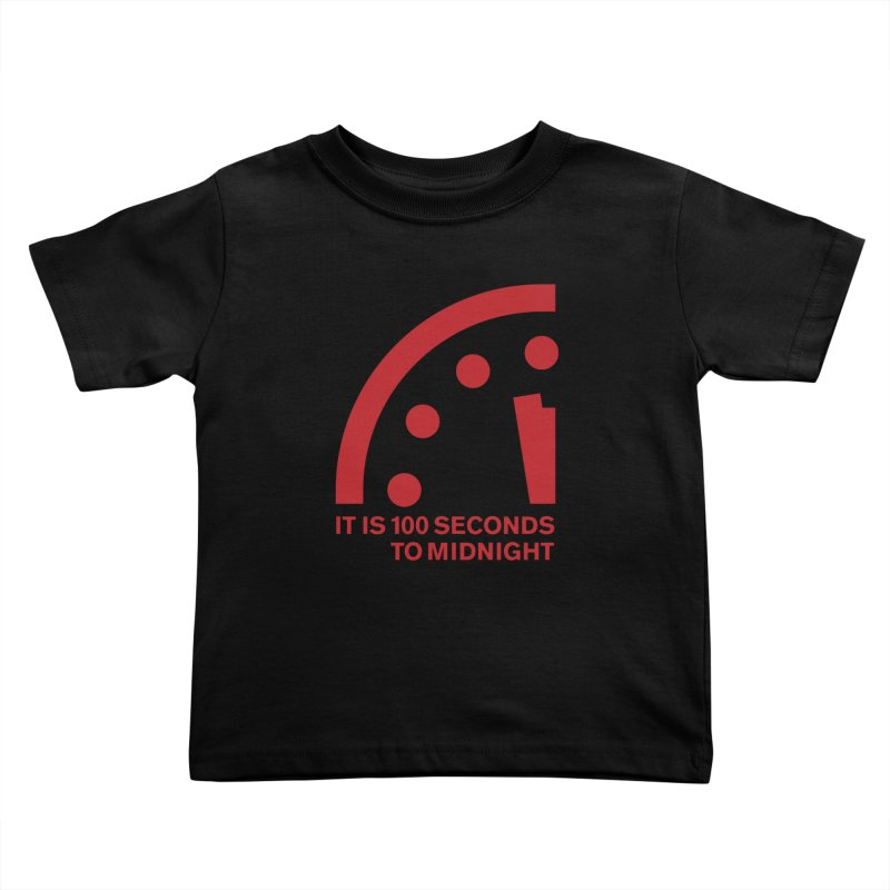 100 Tagline Clock Red Kids Toddler T-Shirt by Bulletin of the Atomic Scientists' Artist Shop