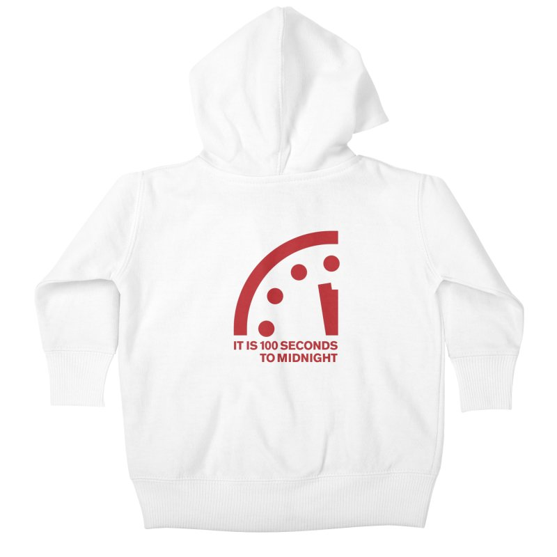 100 Tagline Clock Red Kids Baby Zip-Up Hoody by Bulletin of the Atomic Scientists' Artist Shop