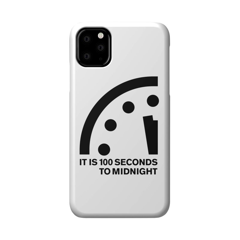 100 Tagline Clock Black Accessories Phone Case by Bulletin of the Atomic Scientists' Artist Shop