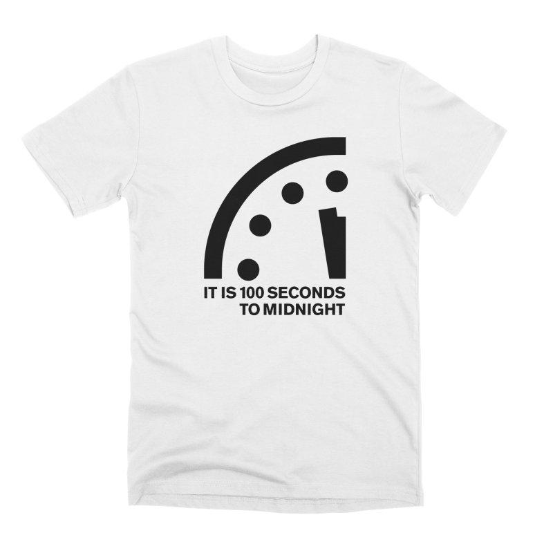 100 Tagline Clock Black Men's T-Shirt by Bulletin of the Atomic Scientists' Artist Shop