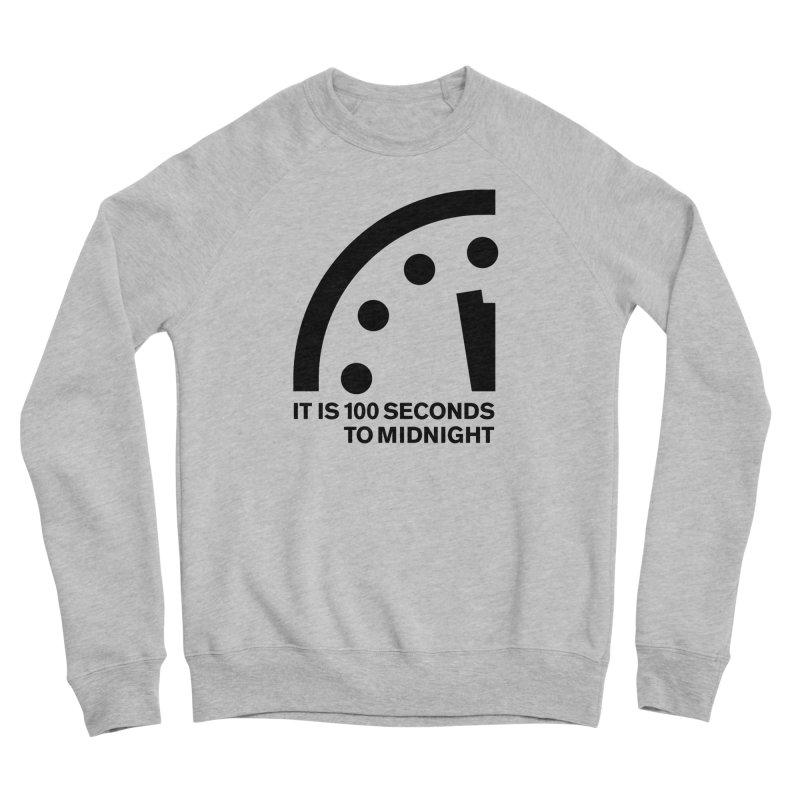 100 Tagline Clock Black Men's Sweatshirt by Bulletin of the Atomic Scientists' Artist Shop