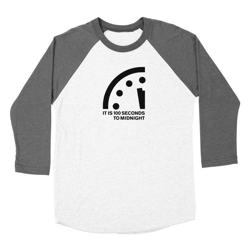 100 Tagline Clock Black Women's Longsleeve T-Shirt by Bulletin of the Atomic Scientists' Artist Shop