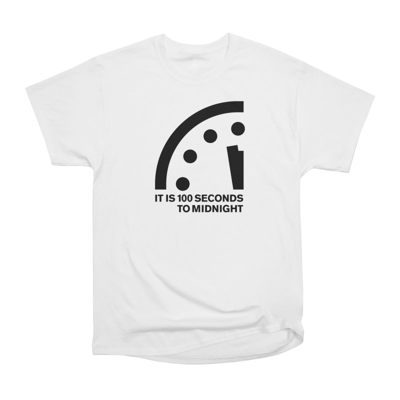 100 Tagline Clock Black Women's T-Shirt by Bulletin of the Atomic Scientists' Artist Shop