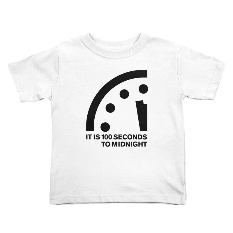 100 Tagline Clock Black Kids Toddler T-Shirt by Bulletin of the Atomic Scientists' Artist Shop