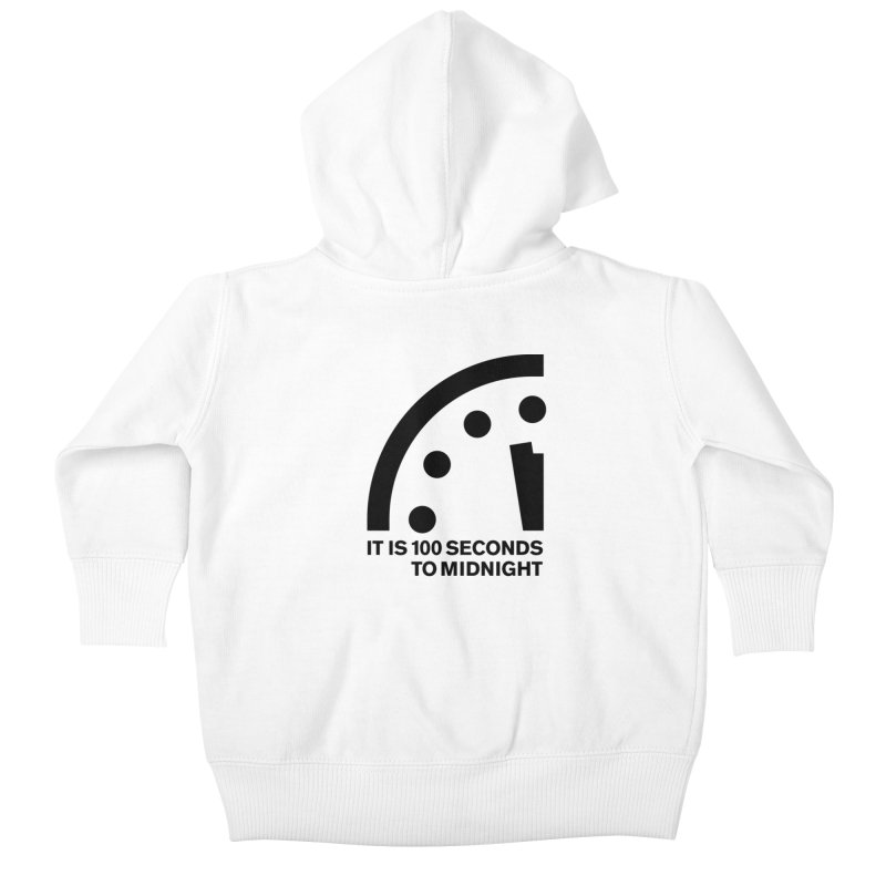 100 Tagline Clock Black Kids Baby Zip-Up Hoody by Bulletin of the Atomic Scientists' Artist Shop