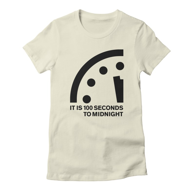 100 Tagline Clock Black Women's T-Shirt by Bulletin of the Atomic Scientists' Artist Shop