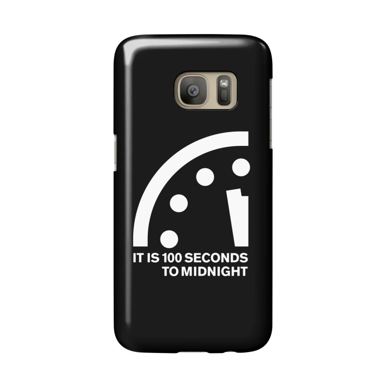 100 Tagline Clock White Accessories Phone Case by Bulletin of the Atomic Scientists' Artist Shop