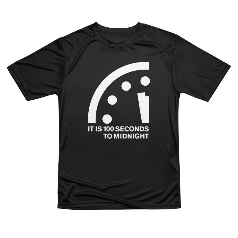 100 Tagline Clock White Women's T-Shirt by Bulletin of the Atomic Scientists' Artist Shop