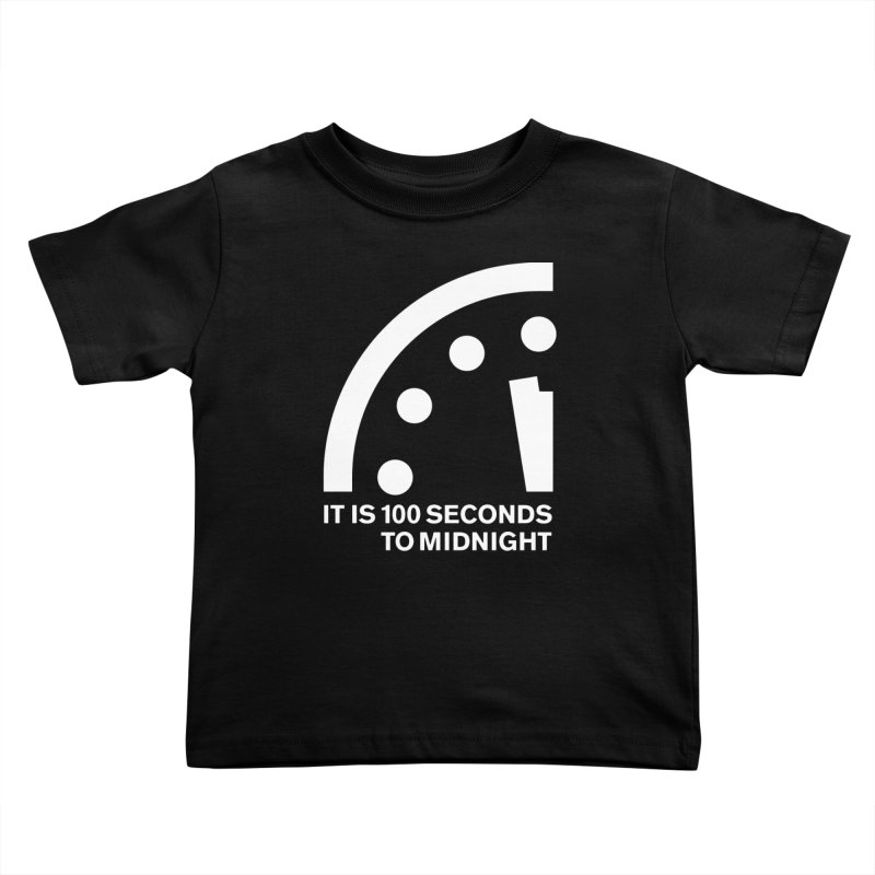 100 Tagline Clock White Kids Toddler T-Shirt by Bulletin of the Atomic Scientists' Artist Shop