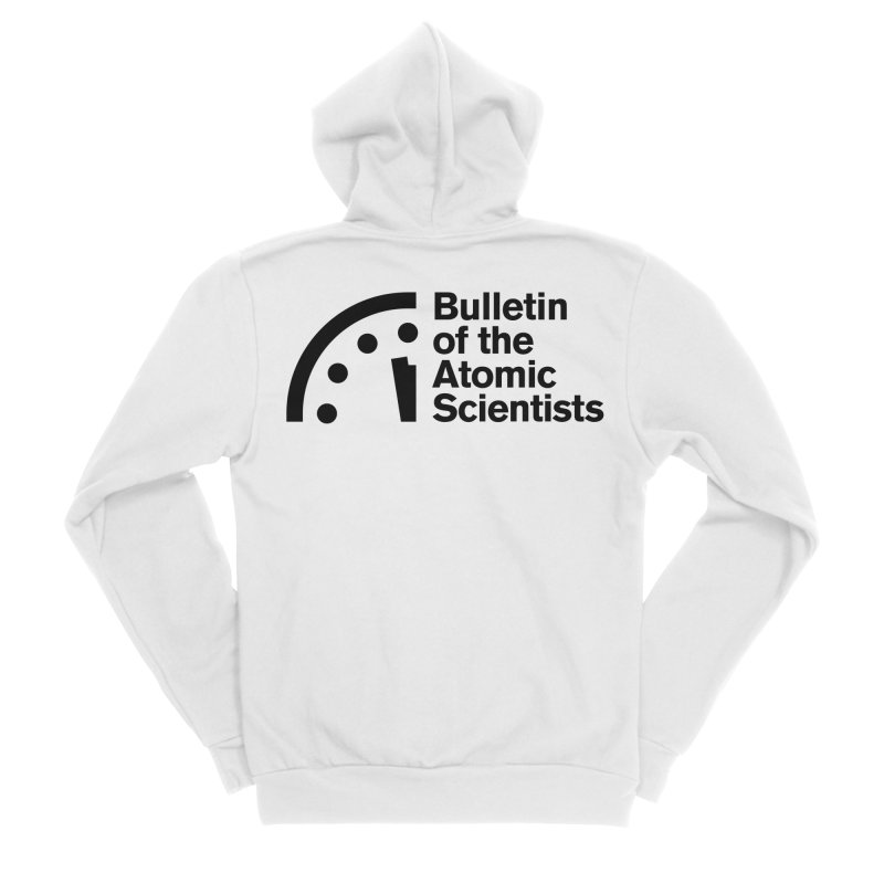 Bulletin of the Atomic Scientists Black Women's Zip-Up Hoody by Bulletin of the Atomic Scientists' Artist Shop