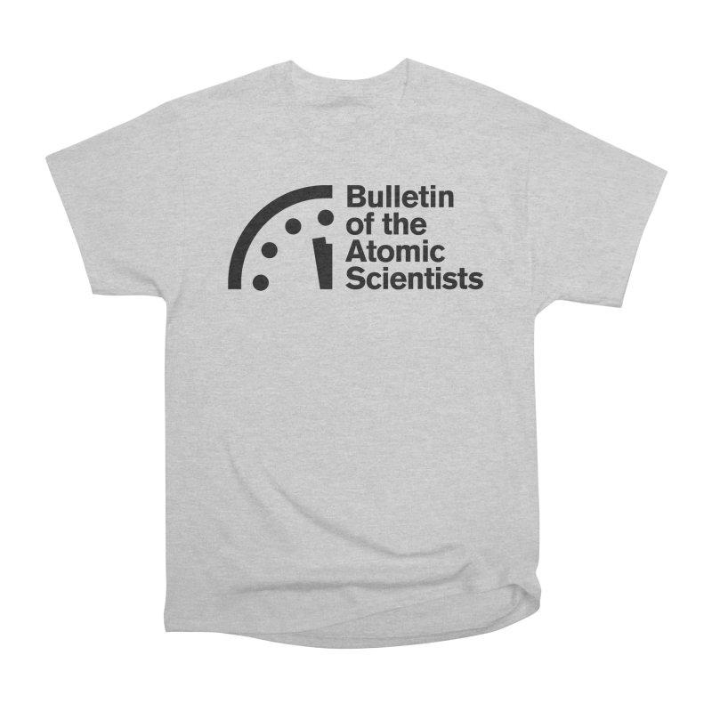 Bulletin of the Atomic Scientists Black Men's T-Shirt by Bulletin of the Atomic Scientists' Artist Shop