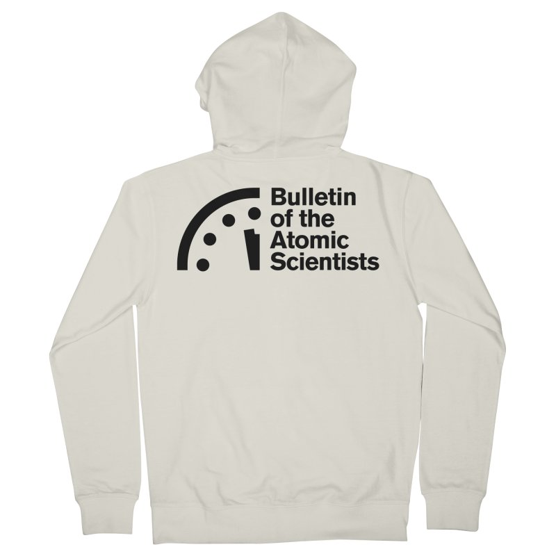 Bulletin of the Atomic Scientists Black Men's Zip-Up Hoody by Bulletin of the Atomic Scientists' Artist Shop