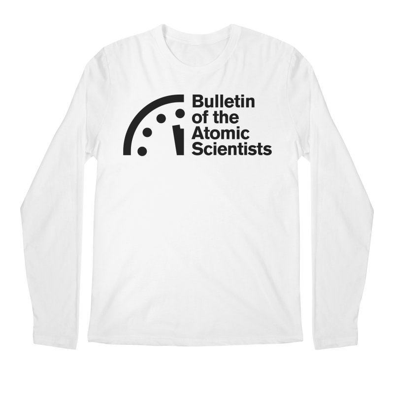 Bulletin of the Atomic Scientists Black Men's Longsleeve T-Shirt by Bulletin of the Atomic Scientists' Artist Shop