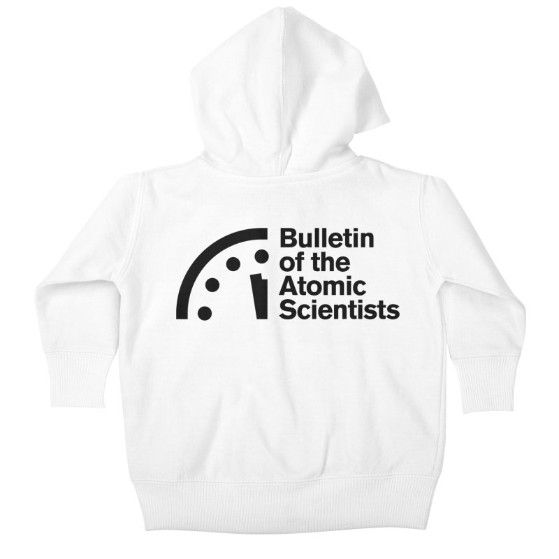 Bulletin of the Atomic Scientists Black Kids Baby Zip-Up Hoody by Bulletin of the Atomic Scientists' Artist Shop