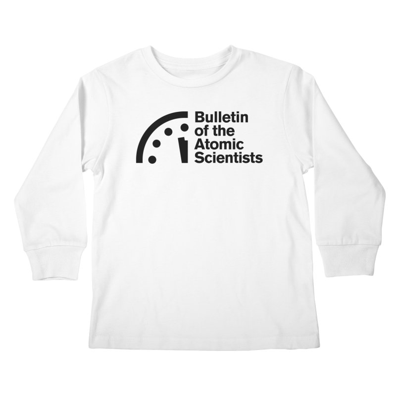 Bulletin of the Atomic Scientists Black Kids Longsleeve T-Shirt by Bulletin of the Atomic Scientists' Artist Shop