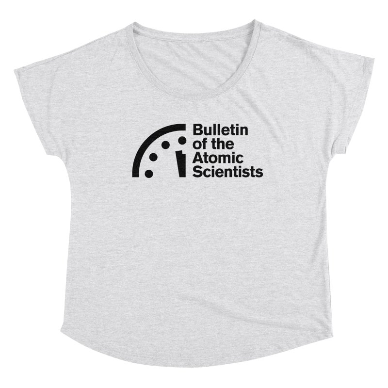 Bulletin of the Atomic Scientists Black Women's Scoop Neck by Bulletin of the Atomic Scientists' Artist Shop