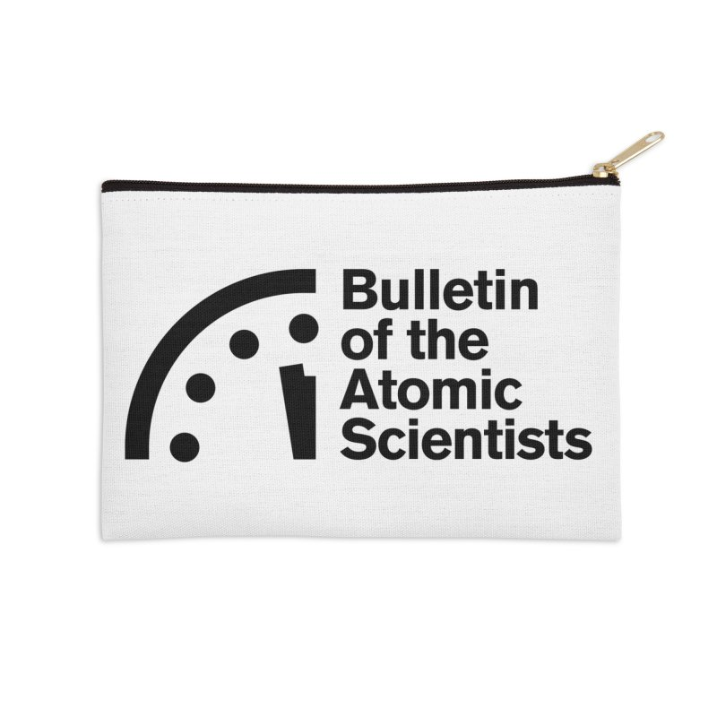 Bulletin of the Atomic Scientists Black Accessories Zip Pouch by Bulletin of the Atomic Scientists' Artist Shop