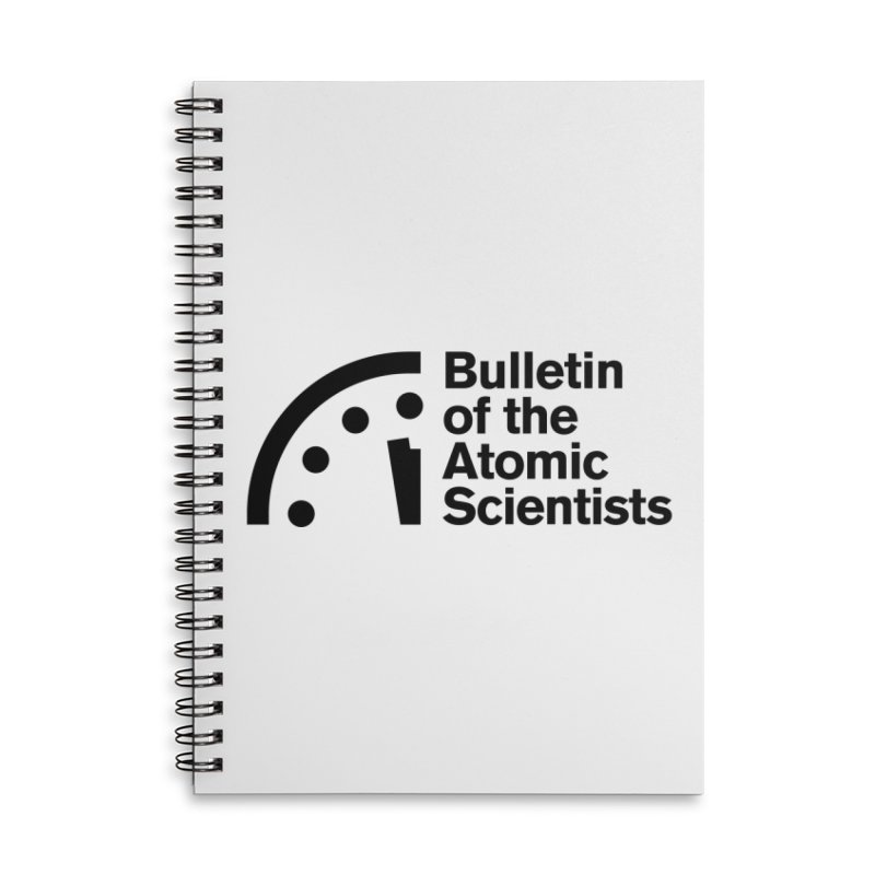 Bulletin of the Atomic Scientists Black Accessories Notebook by Bulletin of the Atomic Scientists' Artist Shop