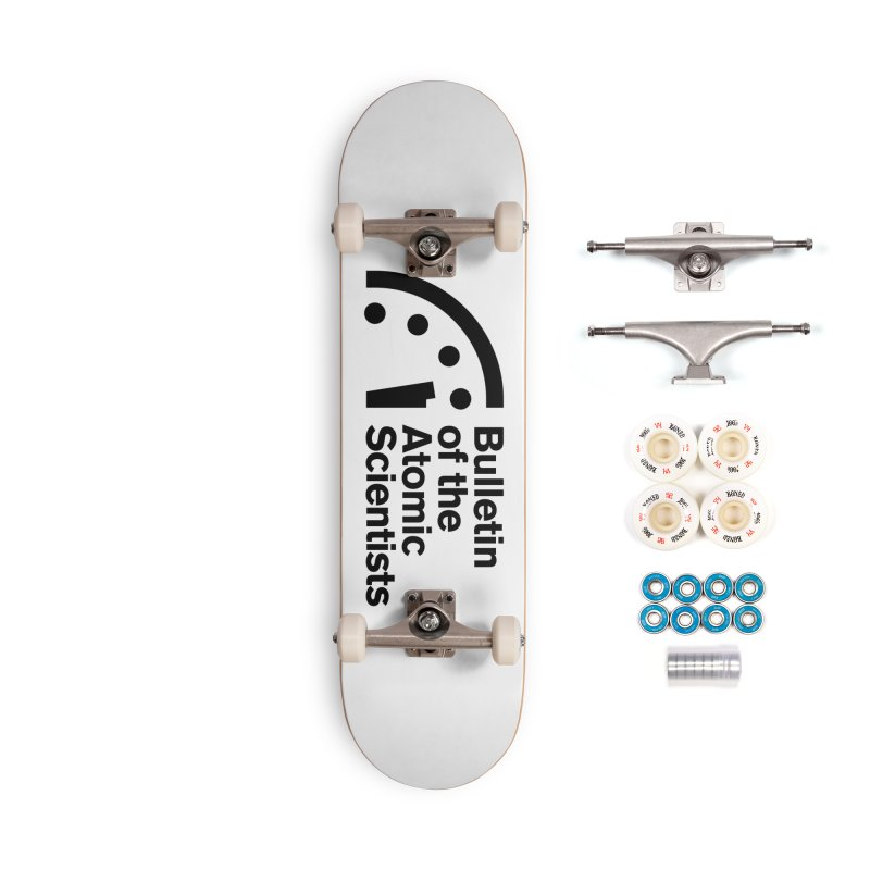Bulletin of the Atomic Scientists Black Accessories Skateboard by Bulletin of the Atomic Scientists' Artist Shop
