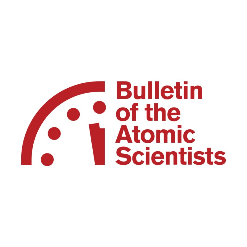 Bulletin of the Atomic Scientists Red Accessories Face Mask by Bulletin of the Atomic Scientists' Artist Shop