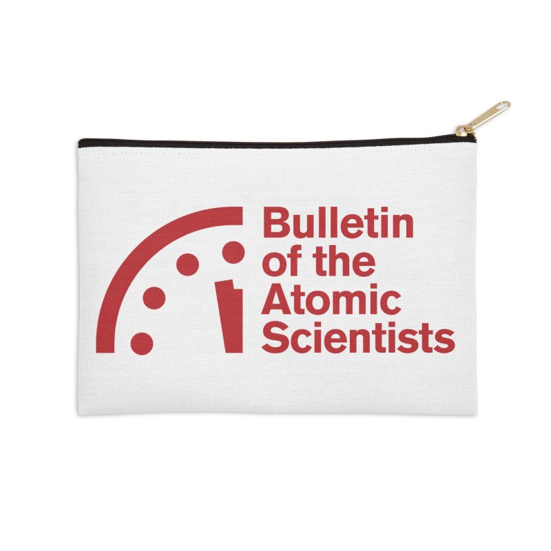 Bulletin of the Atomic Scientists Red Accessories Zip Pouch by Bulletin of the Atomic Scientists' Artist Shop