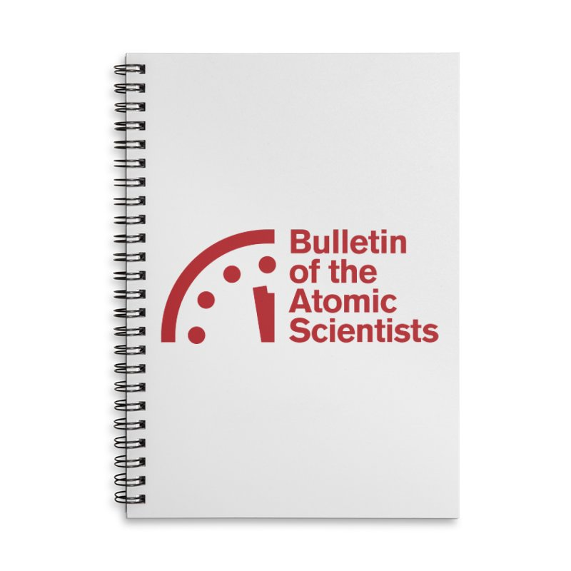 Bulletin of the Atomic Scientists Red Accessories Notebook by Bulletin of the Atomic Scientists' Artist Shop