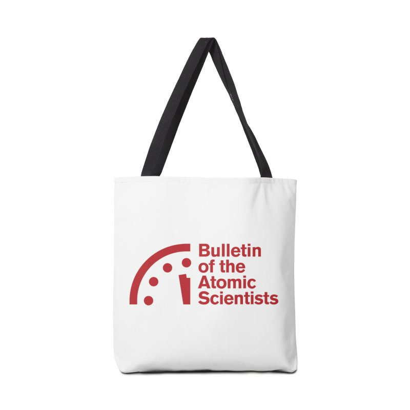 Bulletin of the Atomic Scientists Red Accessories Bag by Bulletin of the Atomic Scientists' Artist Shop