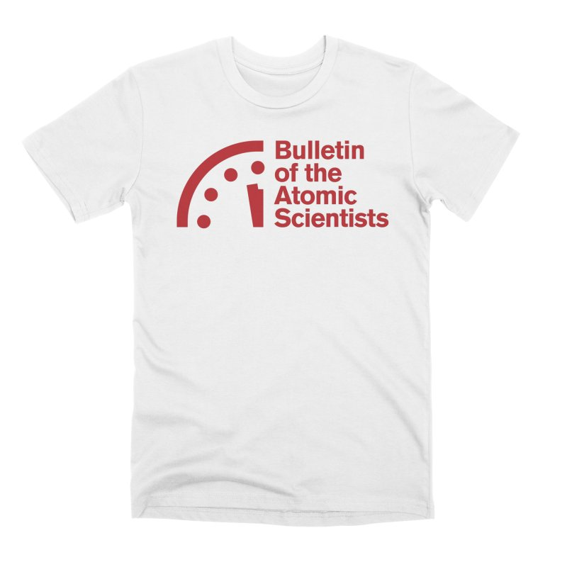 Bulletin of the Atomic Scientists Red Men's T-Shirt by Bulletin of the Atomic Scientists' Artist Shop