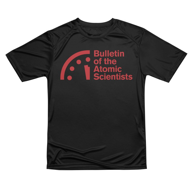 Bulletin of the Atomic Scientists Red Women's T-Shirt by Bulletin of the Atomic Scientists' Artist Shop
