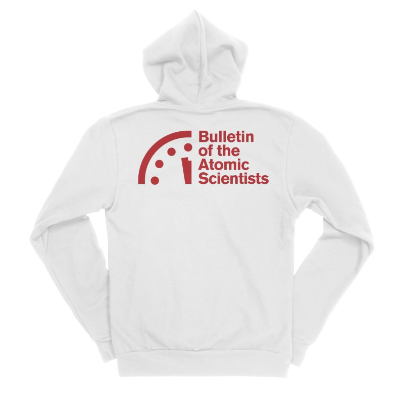 Bulletin of the Atomic Scientists Red Men's Zip-Up Hoody by Bulletin of the Atomic Scientists' Artist Shop