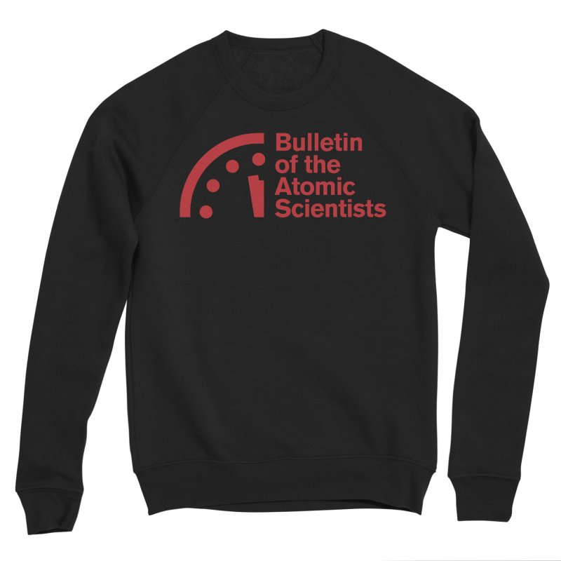 Bulletin of the Atomic Scientists Red Men's Sweatshirt by Bulletin of the Atomic Scientists' Artist Shop