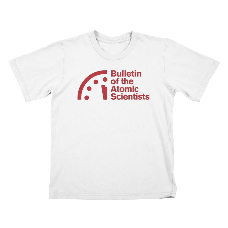 Bulletin of the Atomic Scientists Red Kids T-Shirt by Bulletin of the Atomic Scientists' Artist Shop