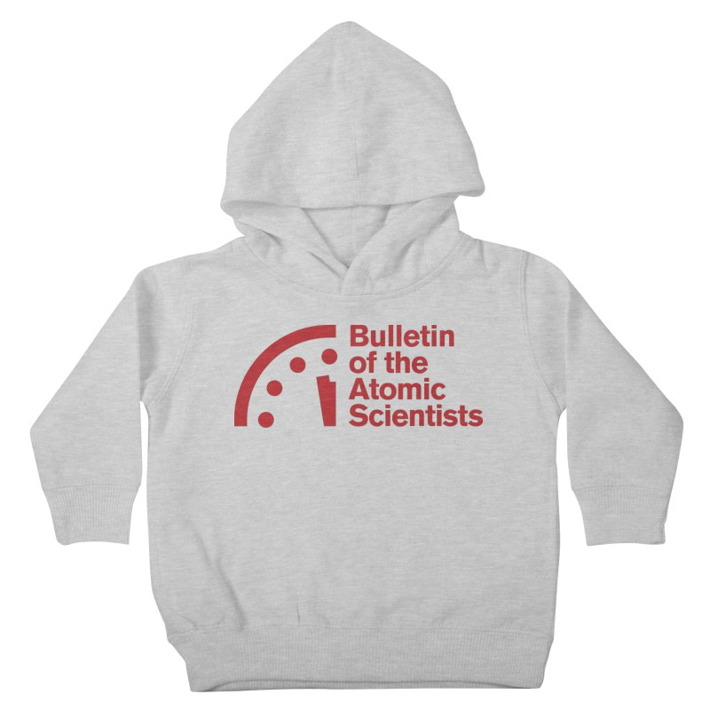 Bulletin of the Atomic Scientists Red Kids Toddler Pullover Hoody by Bulletin of the Atomic Scientists' Artist Shop