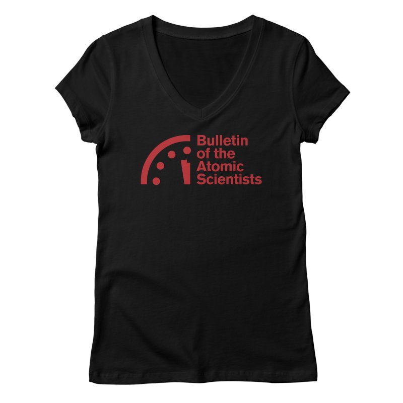 Bulletin of the Atomic Scientists Red Women's V-Neck by Bulletin of the Atomic Scientists' Artist Shop
