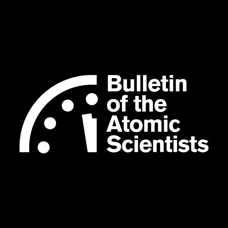 Bulletin of the Atomic Scientists White Accessories Face Mask by Bulletin of the Atomic Scientists' Artist Shop