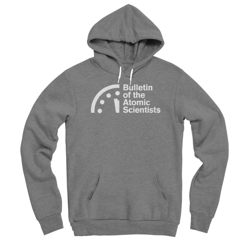 Bulletin of the Atomic Scientists White Women's Pullover Hoody by Bulletin of the Atomic Scientists' Artist Shop