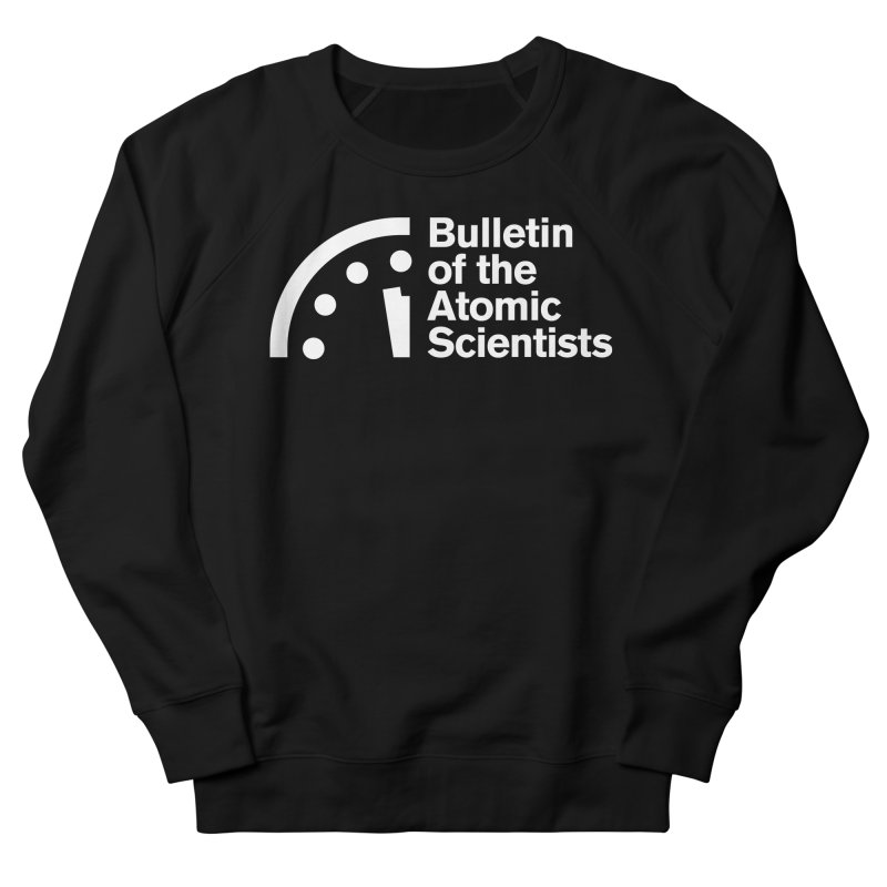 Bulletin of the Atomic Scientists White Men's Sweatshirt by Bulletin of the Atomic Scientists' Artist Shop