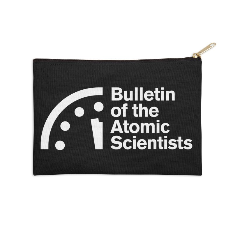 Bulletin of the Atomic Scientists White Accessories Zip Pouch by Bulletin of the Atomic Scientists' Artist Shop